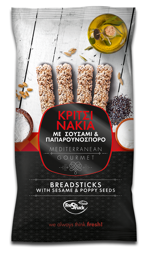 BREADSTICKS WITH SESAME AND POPPY SEEDS