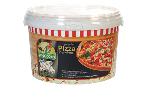 Pop Corn with Pizza flavor